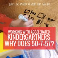 Decomposing and Composing Numbers – Working With Accelerated Kindergartners