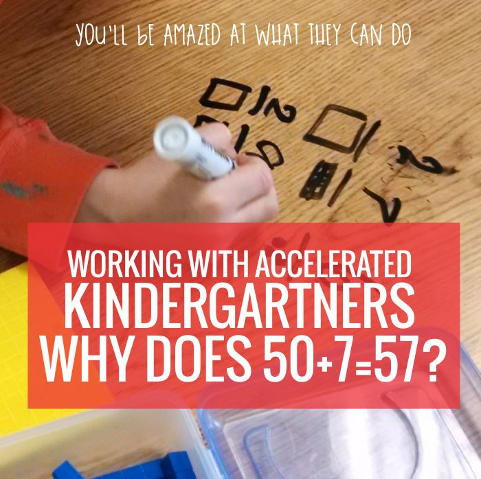 Teaching decomposing numbers to accelerated kindergartners - I can see doing this with my high kiddos. Awesome!