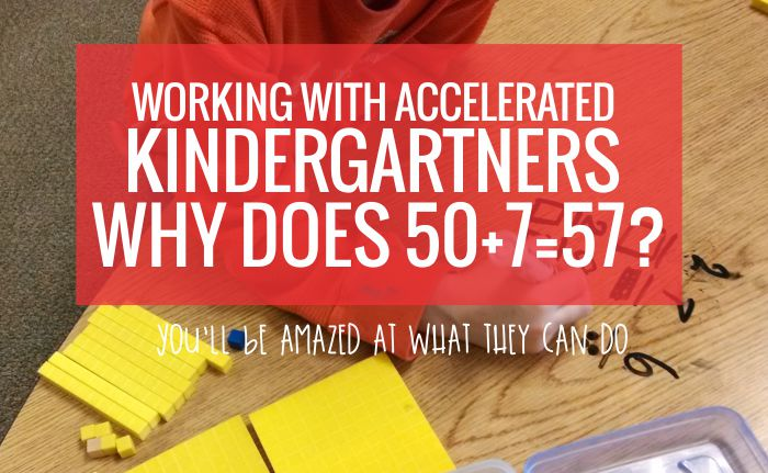 Teaching decomposing numbers to accelerated kindergartners