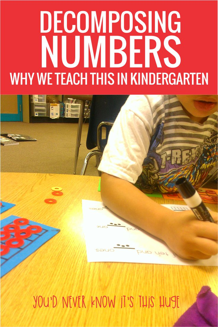 Decomposing and composing numbers in kindergarten - why teaching this actually matters