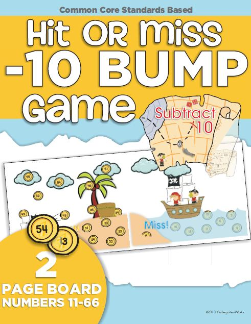 Hit or Miss - Subtract 10 Bump (Roll and Cover) Game