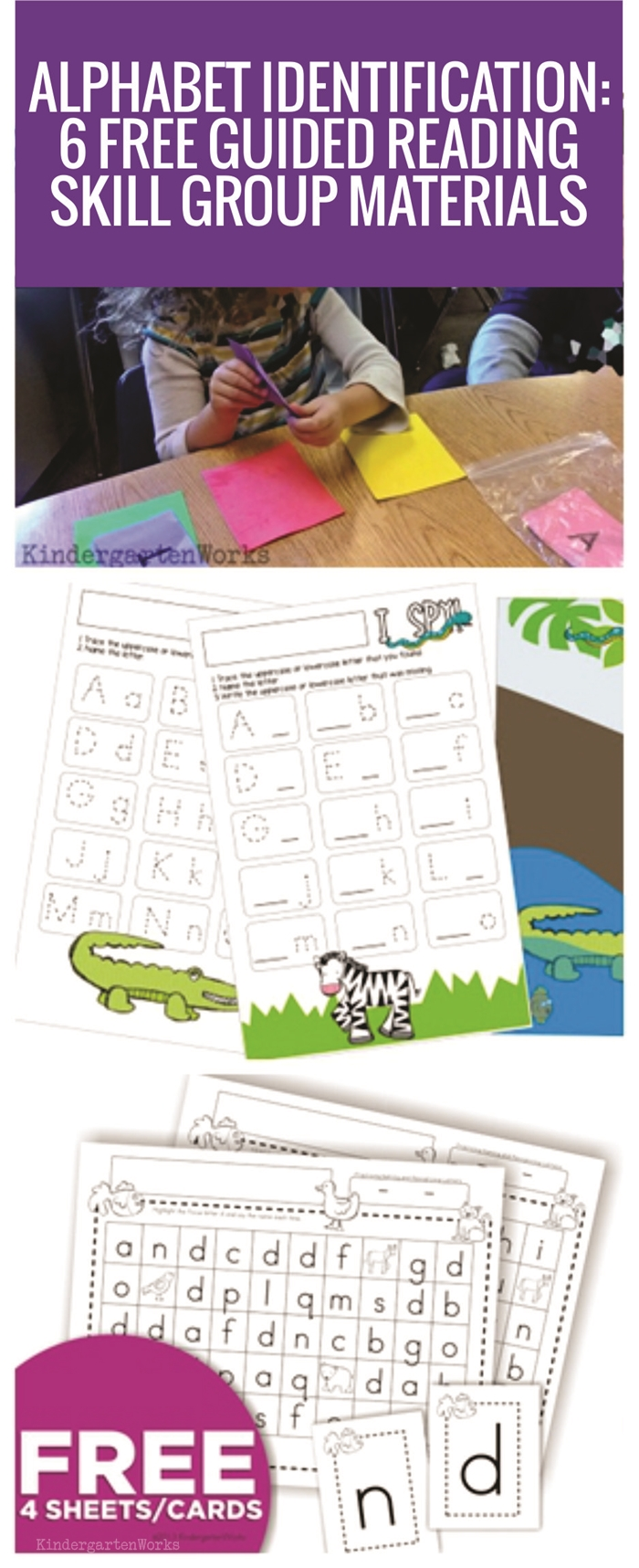 Alphabet Identification - 6 Free Guided Reading Skill Group Materials