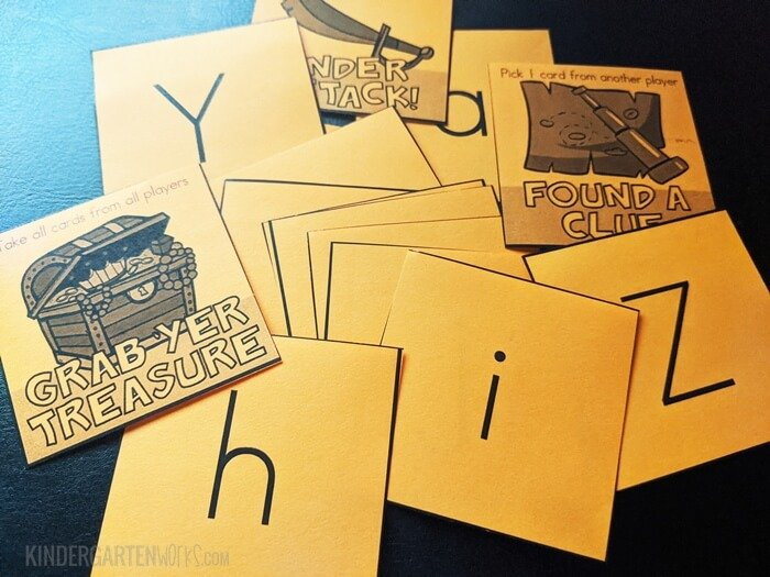 Alphabet Treasure Quest Boom Card Game for Kindergarten