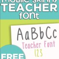 KindergartenWorks: 4 free fonts for teachers