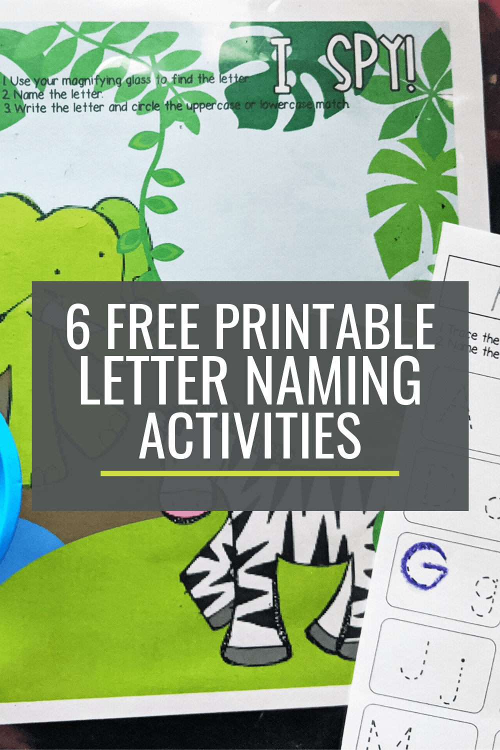 6 Free Letter Naming Activities for Small Groups