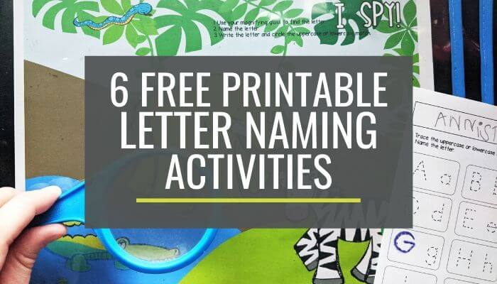 Free Letter Naming Activities for Kindergarten Small Groups