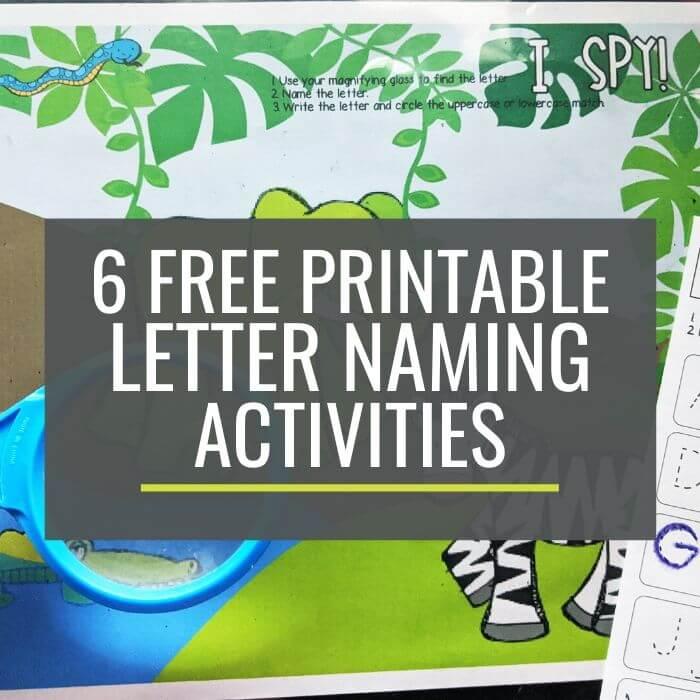 6 free alphabet identification printables