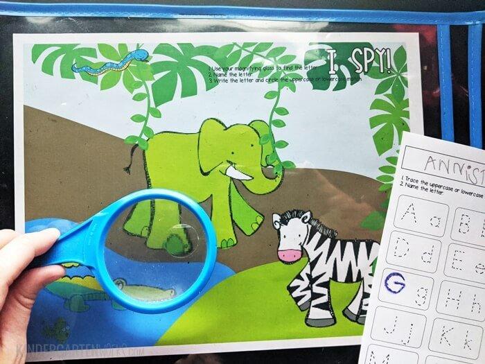 I Spy Letters Free Jungle Activity for Kindergarten