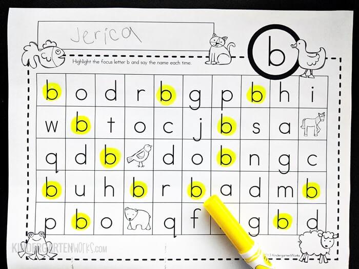 Find the letter maze bingo dauber dot maker activity sheets