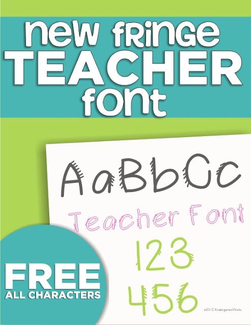 4 free fonts for teachers