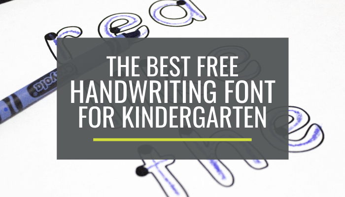 best handwriting font for beginners
