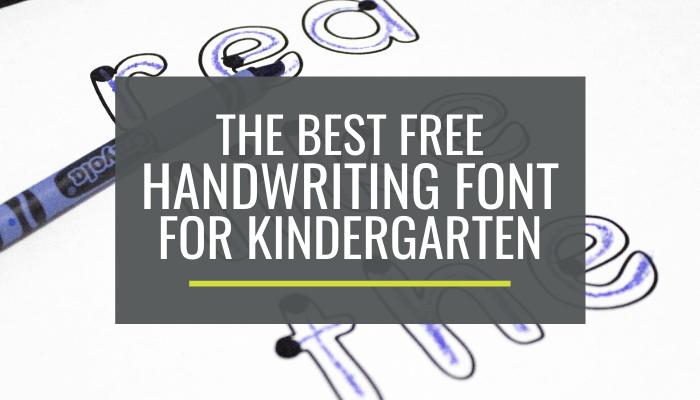 best handwriting font for beginners