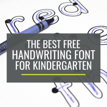 best handwriting font for kindergarten