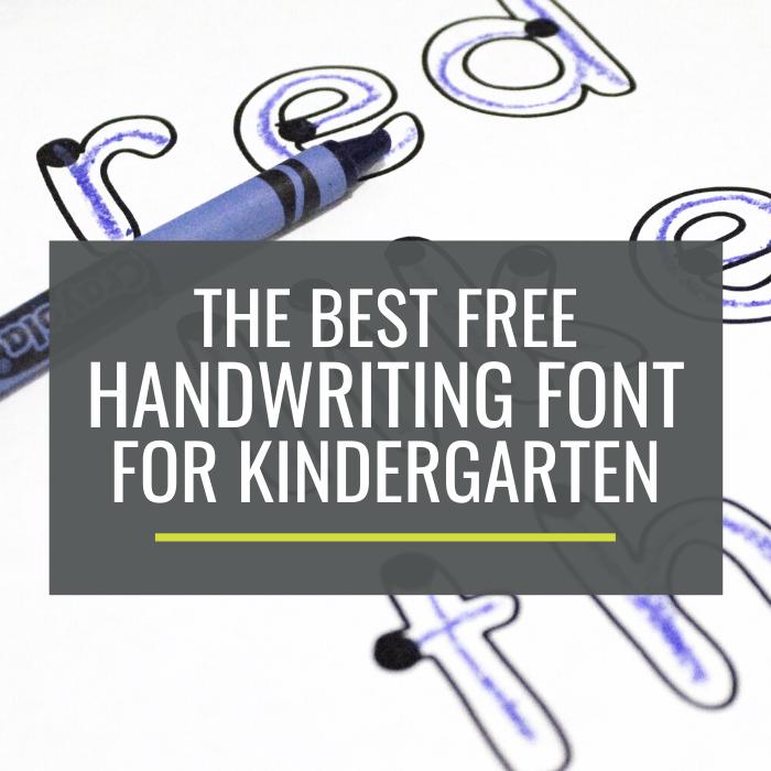 best handwriting font for kindergarten