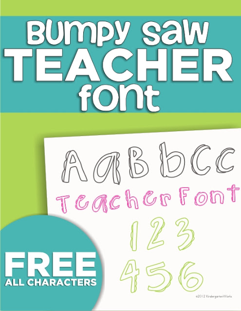 4 free fonts for teachers