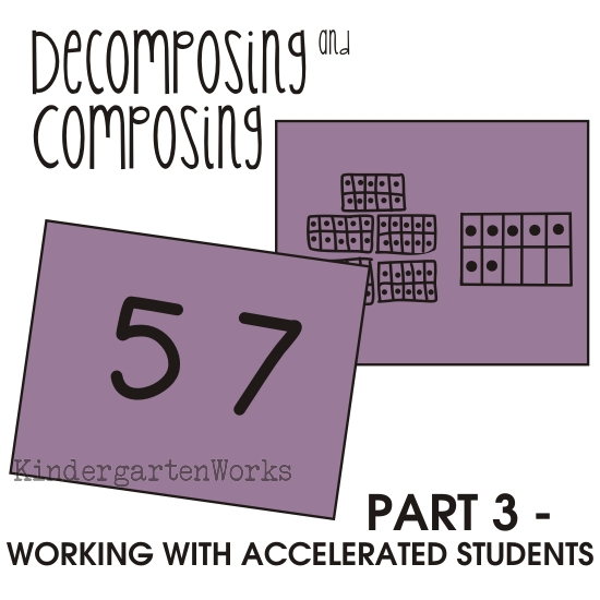 why does 50+7=57? working with accelerated kindergartners - part 3
