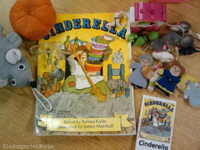 KindergartenWorks: retell literacy center activity - Cinderella