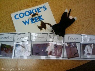 retell literacy center activity - Cookie's Week