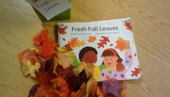 retell literacy center activity - Fresh Fall Leaves