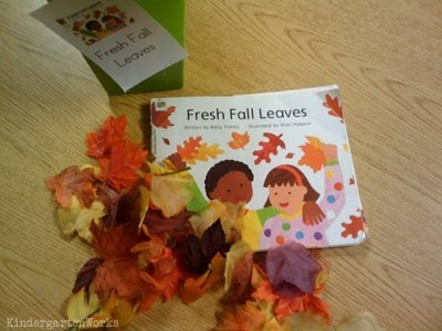 retell literacy center activity - Fresh Fall Leaves