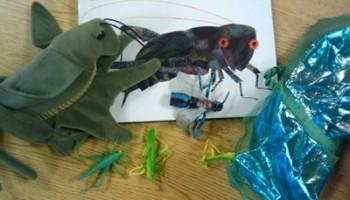 retell literacy center activity - The Very Quiet Cricket