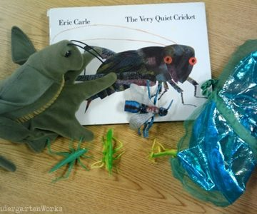 retell literacy center activity - The Very Quiet Cricket