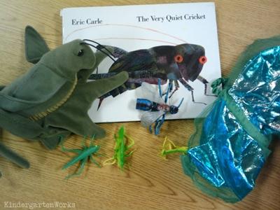 KindergartenWorks: retell literacy center activity - The Very Quiet Cricket