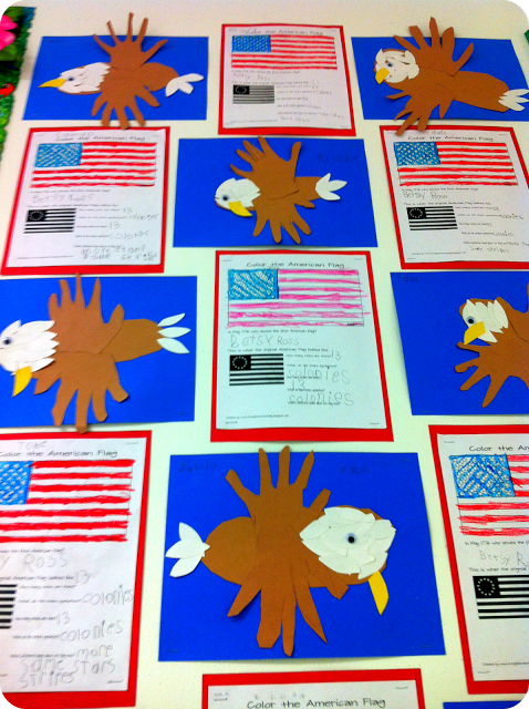Patriotic Art Project (good for Presidents Day, 4th of July or Veterans Day) Bubbles for an end of the year countdown - Top 20 Kindergarten Teaching Ideas to Try Right Now