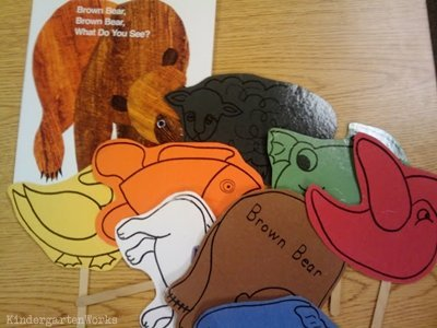 KindergartenWorks: retell literacy center activity - Brown Bear, Brown Bear, What Do You See