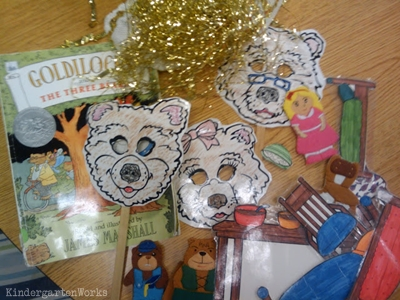 KindergartenWorks: retell literacy center activity - Goldilocks and the Three Bears