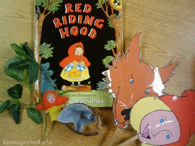 KindergartenWorks: retell literacy center activity - Red Riding Hood