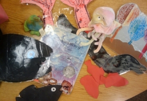 retell literacy center activity - Swimmy