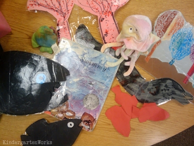 KindergartenWorks: retell literacy center activity - Swimmy
