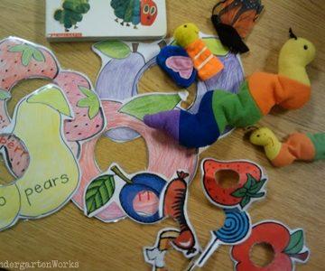 retell literacy center activity - The Very Hungry Caterpillar