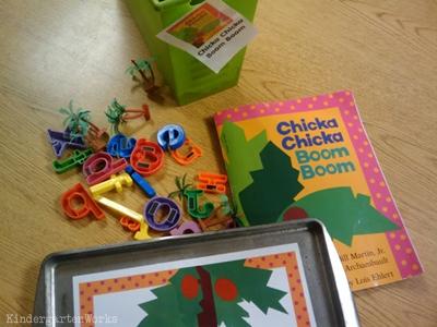 KindergartenWorks: retell literacy center activity - Chicka Chicka Boom Boom