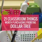 21 Classroom Things Worth Purchasing from the Dollar Tree