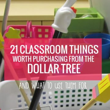 21 Classroom Things Worth Purchasing From the Dollar Tree - I am using some of these!