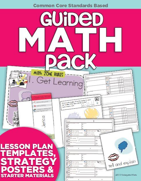 Guided Math Pack Kindergarten