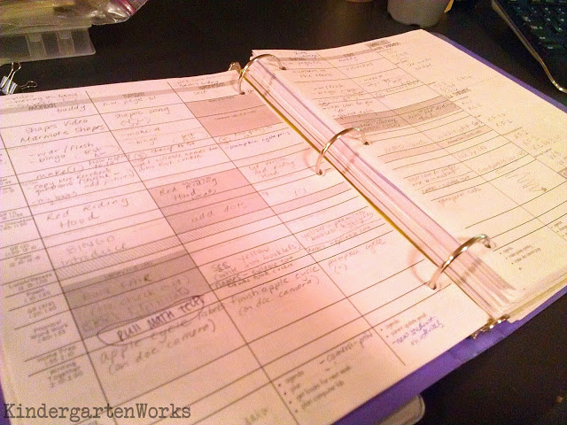 How to create a lesson planning system using a binder