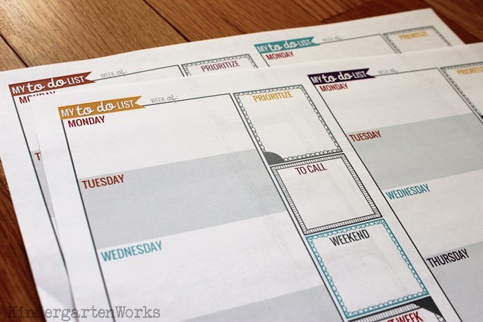 Teacher Planning Weekly To Do List | Kindergartenworks