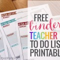 Free weekly To Do List Template for Teachers - Binder Printable - KindergartenWorks