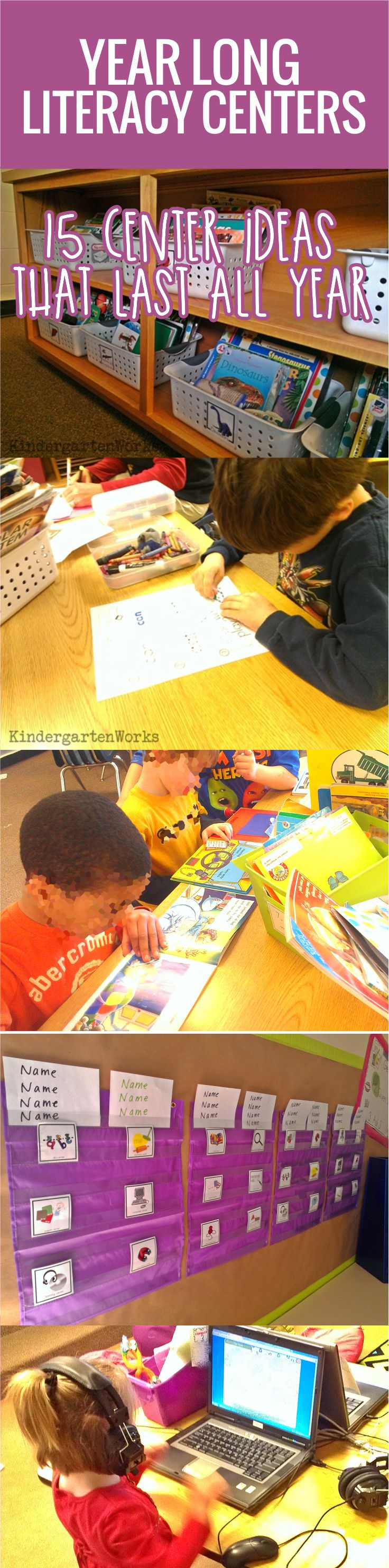 Literacy centers can be a blessing or a pain. I think it all hinges on the design, organization and effectiveness behind them that makes a difference. This is my philosophy on how to create literacy centers that are smart for me, the teacher, and effective for my kindergarten students.