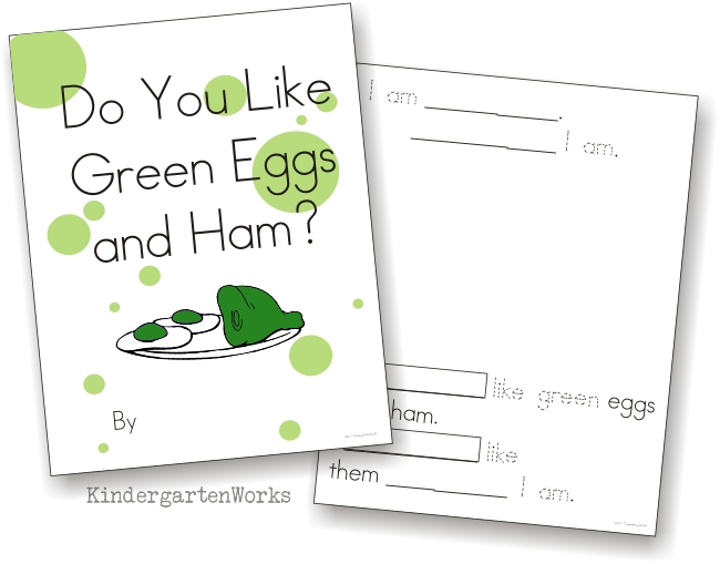 Green Eggs And Ham Class Book Activity