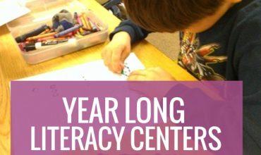 How to create smart year long literacy centers kindergarten