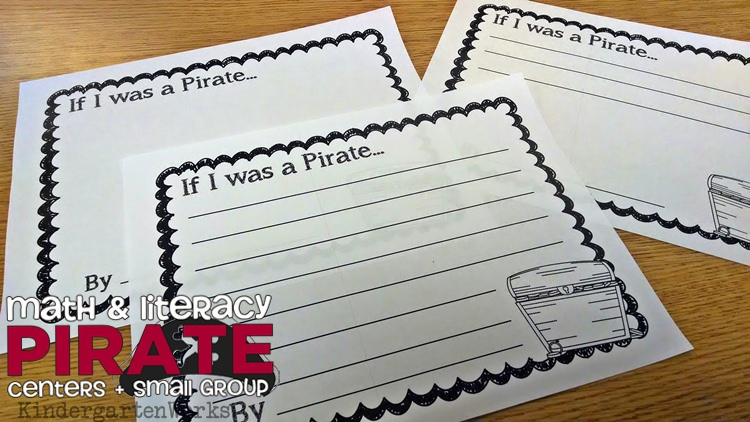 Kindergarten Pirate Unit - Reading, Writing and Math