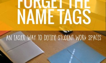 Why I Chose Student Work Spaces Over Name Tags