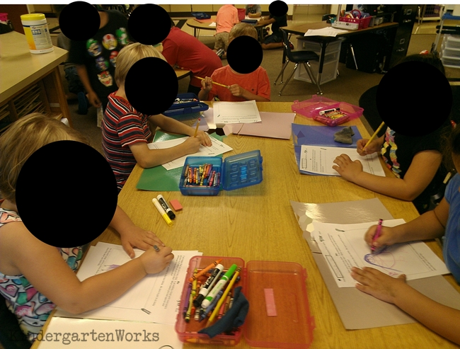 student work spaces instead of student name tags - KindergartenWorks