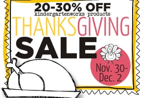 Thanksgiving Sale Nov. 30 - Dec. 2 :: KindergartenWorks