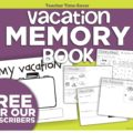 Instant Homework - Vacation Memory Book - KindergartenWorks