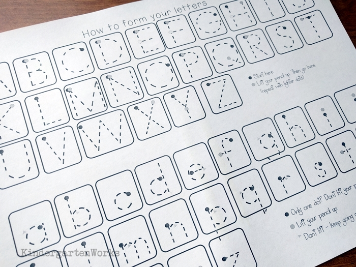 Handwriting Mini-Progress Report {Free Printable} Kindergarten - uppercase and lowercase letters
